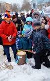 Abschied zum Winter Karneval Stockfotografie