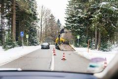 Abschleppwagen im Wald Deutschland ADAC Lizenzfreie Stockfotografie
