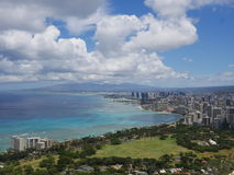 Abschließende Ansicht an der Spitze des Diamantkopfes, Honolulu, Oahu, Hawaii Lizenzfreies Stockbild