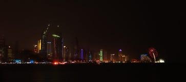 Abschließende Feuerwerke Doha Lizenzfreie Stockfotografie