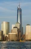 Abschließende Höhe der World Trade Center-Reichweiten in New York City Lizenzfreie Stockbilder