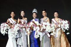 Abschließende Runde von Fräulein Supranational Thailand 2017 auf großem Stadium a Lizenzfreies Stockbild