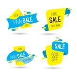 Abschließende Verkaufsfahne der bunten Werbung 50 Prozent weg Lizenzfreie Stockfotos
