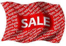 Abschließende Verkleinerungs-Verkaufs-Markierungsfahne Stockfoto