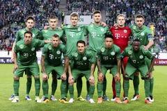 Abschließendes Fußballspiel des Magyar Kupa zwischen Ujpest FC und Ferencvarosi TC Stockbild