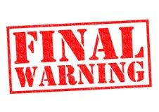 ABSCHLIESSENDES WARNING lizenzfreie abbildung