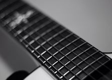 Abschluss der elektrischen Gitarre oben Lizenzfreie Stockfotos