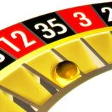 Abschluss der Roulette 04 mit Kugel Lizenzfreie Stockfotos