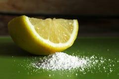 Abschluss der Zitronensäure so, Makro stockfoto
