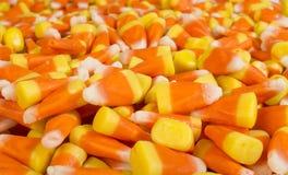 Abschluss des Süßigkeitsmais oben Stockfotos