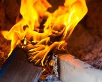Abschluss-Flammenofen alt Lizenzfreie Stockbilder