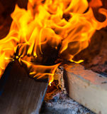 Abschluss-Flammenofen alt Lizenzfreies Stockfoto