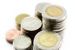 Abschluss herauf die Silbermünzepaste ist in der Linie als Disziplin lizenzfreies stockfoto