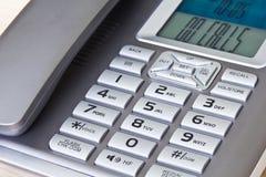 Abschluss oben des Bürotelefons Stockfoto