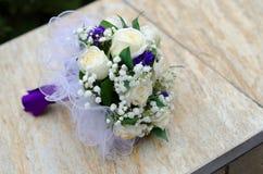 Abschluss oben des Hochzeitsblumenstraußes Lizenzfreies Stockbild