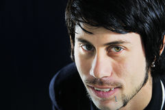 Abschluss oben des jungen hispanischen Mannes Stockfotografie