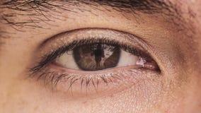 Abschluss oben eines Auges Stockfotos