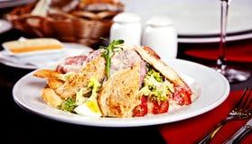Schließen Sie oben von Caesar-Salat Stockbild