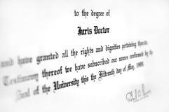 Abschluss in Rechtswissenschaften Lizenzfreie Stockfotografie