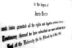 Abschluss in Rechtswissenschaften Lizenzfreie Stockbilder