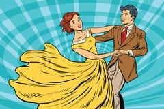 Abschlussball, Paarmädchen und Jungentanz lizenzfreie abbildung