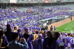 181. Abschlussfeier New- Yorkuniversitäts(NYU) Stockfotos
