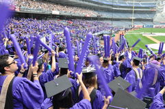 181. Abschlussfeier New- Yorkuniversitäts(NYU) Lizenzfreie Stockfotos