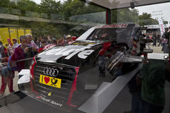 Abschnitt über ein Audi Sport-Auto stockfotografie