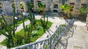 Abschnitt des Gartens in Vizcaya Lizenzfreies Stockfoto