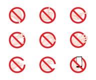Abschreckende Zeichengeschäfts-Handzeichenikonen stock abbildung