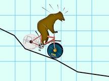 Abschreibung des Rubels lizenzfreies stockfoto