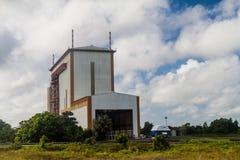 Abschussrampenintegrationsgebäude in der Guayana-Raum-Mitte stockbild