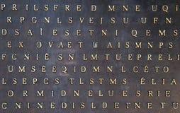 absctactbakgrund letters metalliskt Arkivbilder