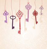 Absctract background with  keys Stock Photos