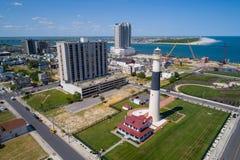 Absecon fyr Atlantic City NJ Royaltyfri Bild