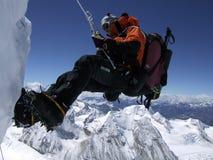 Abseil dall'Himalaya Immagine Stock Libera da Diritti