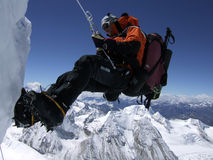 Abseil from the Himalayas Royalty Free Stock Image