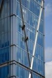 Abseilers sulla torre di Broadwick, Londra Fotografia Stock
