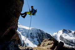 Abseiling Stock Images