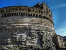 Abseiling Castel SantAngelo royalty free stock photography