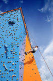 Abseiling climbing wall Royalty Free Stock Images