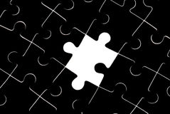 Absence. Black puzzles It is a symbol (stereotypes, problems, dependence Stock Illustration