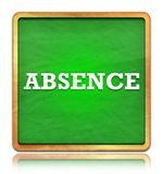Absence green chalkboard square button stock illustration