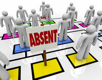 Free Absent Person On Organizational Chart - Lateness Or Tardiness Royalty Free Stock Images - 31865039