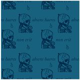 An absent person will not be an heir seamless pattern. Absens haeres non erit an absent person will not be an heir - in latin language seamless pattern for web Royalty Free Stock Photography