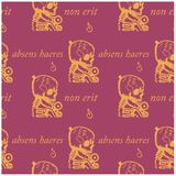 An absent person will not be an heir seamless pattern. Absens haeres non erit an absent person will not be an heir - in latin language seamless pattern for web Stock Photography