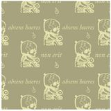 An absent person will not be an heir seamless pattern. Absens haeres non erit an absent person will not be an heir - in latin language seamless pattern for web Royalty Free Stock Image