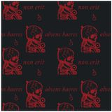 An absent person will not be an heir seamless pattern. Absens haeres non erit an absent person will not be an heir - in latin language seamless pattern for web Stock Photos