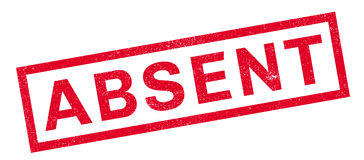 Absent  rubber stamp Stock Photography