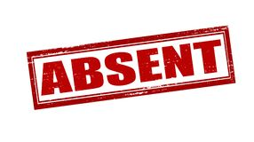 Absent. Rubber stamp with word absent inside,  illustration Royalty Free Stock Photo